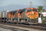 Freight train approaching Fullerton